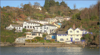 Bodinnick across the water from Fowey, Cornwall, UK